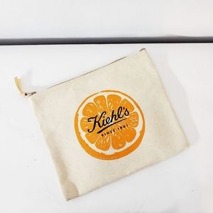 Kiehl's Orange Logo Canvas Small Bag Pouch